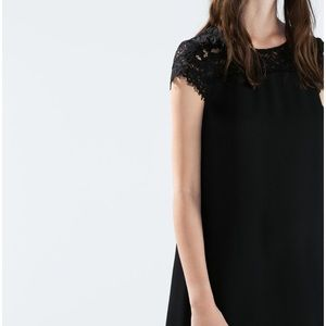 ZARA Lace Shoulder Dress